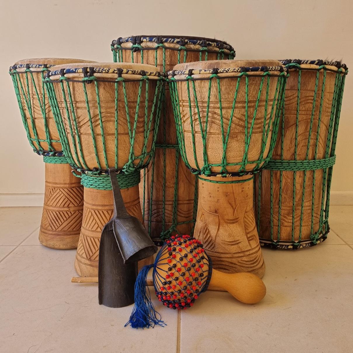 Seven Piece African Drum Set 2